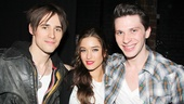 Three actors from three rockin musicals: Reeve Carney (Spider-Man), Julie Nelson (Rock of Ages) and Joey Taranto (Kinky Boots).