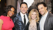 Look at this handsome group! Tony winners Audra McDonald and Steve Kazee with Broadway faves Caissie Levy and Will Swenson (who happens to be married to McDonald).