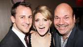 Kinky Boots&#39; Annaleigh Ashford gets in the middle of a great Broadway couple: hair designer Josh Marquette (l.) and his partner, Tony winner Casey Nicholaw.