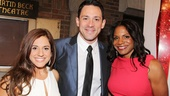 I spy a trio of gorgeous Tony winners! Once winner Steve Kazee is bookended by the lovely Hairspray star Marissa Jaret Winokur and Audra McDonald, who picked up her fifth trophy for the role of Bess in Porgy and Bess.