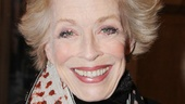 Ann star and playwright Holland Taylor flashes us a big opening night smile.