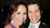 Andrea Burns receives some opening night love from her In the Heights director Thomas Kail.