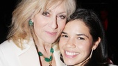 Judith Light embraces her former Ugly Betty co-star America Fererra.