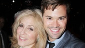 On hiatus from NBC's The New Normal, Andrew Rannells toasts to Judith Light at the party.