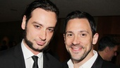 What a handsome duo! Jekyll &amp; Hydes Constantine Maroulis poses with Tony winner Steve Kazee.