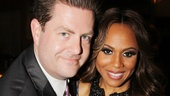 Broadway.com Editor-in-Chief Paul Wontorek congratulates Deborah Cox on her stunning performance as Lucy in Jekyll & Hyde.