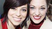 Picture perfect! Smash player Krysta Rodriguez and Cinderella star (and Broadway.com Audience Choice Award nominee!) Laura Osnes look gorgeous.