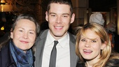 Cherry Jones, Brian J. Smith and Celia Keenan-Bolger, stars of The Glass Menagerie at the American Repertory Theater in Cambridge, reunite on opening night of Macbeth.