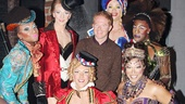 The fabulous Kinky Boots angels surround their guest, Emmy nominee Jesse Tyler Ferguson.