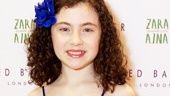 Annie headliner Lilla Crawford looks positively adorable in blue!