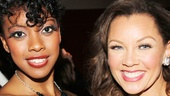 Bountiful stars Condola Rashad and Vanessa Williams hang out at the party.