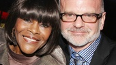 What a night! Cicely Tyson and Bountiful director Michael Wilson take a moment to relax at Copacabana.