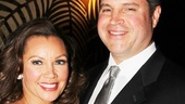 Vanessa Williams comes in close with her boyfriend, Jim Skrip, at the party.