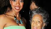 Condola Rashad takes a snapshot with Broadway vet Billie Allen.