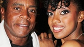 Condola Rashad strikes a pose with her extremely proud father, Ahmad.