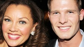 Vanessa Williams and model Jeff Tomsik strike a pose at the party.