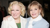 Bette Midler receives a big congrats from another legend, Barbara Walters.