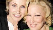 Future Annie star Jane Lynch poses with fellow funny lady Bette Midler.