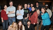 Picture perfect! The ensemble cast of Hands on a Hardbody comes together for a photo in MSR Studios.