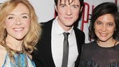 Pippin stars Rachel Bay Jones and Matthew James Thomas celebrate with director Diane Paulus.