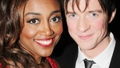 In Pippin, Patina Miller stars as the mysterious Leading Player, who invites young prince Pippin, played by Matthew James Thomas, on a magical journey.