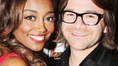 Patina Miller beams next to her brand new fiancé David Mars, who proposed to the Pippin star on opening night!