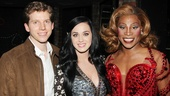 An emotional Katy Perry gushes over the performances of Kinky Boots Tony-nominated stars Stark Sands and Billy Porter.