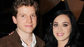 Stark Sands thanks Katy Perry for her visit.