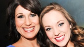 Look who's here: Another Best Actress hopeful, Cinderella star Laura Osnes, strikes a pose with Stephanie J. Block. Osnes knows a thing or two about the Tony nominee brunch—she was the subject of Broadway.com's photo feature last year!