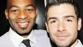 Picture perfect! Motown&#39;s Brandon Victor Dixon and The Last Five Years&#39; Adam Kantor take a snapshot between performances.