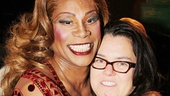 Rosie ODonnell embraces her former Grease co-star turned Kinky Boots headliner Billy Porter.
