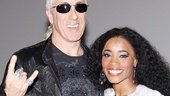 Dazzling leading lady Valisia LeKae shines backstage with Dee Snider.