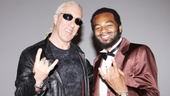 Rock 'n' roll collides with the golden oldies as Dee Snider flashes the devil's horns with Brandon Victor Dixon, who plays Motown founder Berry Gordy.