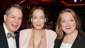 Three of the funniest actors in New York line up for a photo: Cinderellas Peter Bartlett and Harriet Harris and Vanya Tony nominee Kristine Nielsen.