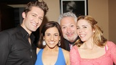 Hairspray reunion! Matthew Morrison, Marissa Jaret Winokur, Harvey Fierstein and Kerry Butler share a group hug.