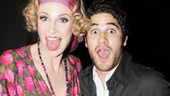 Broadway alum Darren Criss is on hand for his Glee co-star Jane Lynchs big opening night on Broadway.
