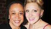 Two-time Tony nominee S. Epatha Merkerson congratulates first-time nominee Annaleigh Ashford on her comic performance in Kinky Boots.