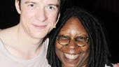 Pippin title star Matthew James Thomas invites Whoopi Goldberg to join him backstage.