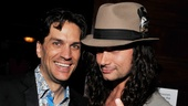 Rock on! Will Swenson hangs out with his former Rock of Ages pal Constantine Maroulis after the show.