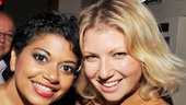 Murder Ballad star Rebecca Naomi Jones and The Performers alum Ari Graynor pause for a photo.