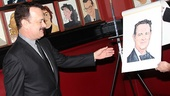 Lucky Guy's leading man Tom Hanks admires his brand new Sardi's caricature. Looking sharp, Tom!