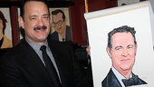 Tom Hanks' Sardi's portrait is a dead ringer for the two-time Academy Award winner and first-time Tony nominee.