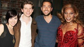Zachary Levi and Krysta Rodriguez at 'Kinky Boots' — Krysta Rodriguez — Stark Sands — Zachary Levi — Billy Porter