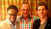 Look who else dropped in to say hi to Billy Porter and Stark Sands: it's Law & Order alum Christopher Meloni.