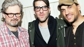 The Glass Menagerie and Star Trek Into Darkness star Zachary Quinto gets between Murder Ballad's John Ellison Conlee and Will Swenson.