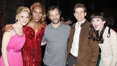 Kinky Boots' quartet of stars Annaleigh Ashford, Billy Porter, Stark Sands and Celina Carvajal surround writer, producer and director Judd Apatow (This Is 40, Funny People, Knocked Up, The 40-Year-Old Virgin).