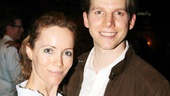 Leslie Mann snags a photo with Kinky Boots' Tony nominated star Stark Sands.