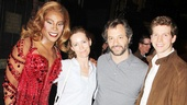 Billy Porter and Stark Sands share a smile with Leslie Mann and Judd Apatow.