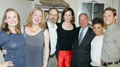 The cast of Vanya and Sonia and Masha and Spike welcomes Tony Award honoree Mayor Michael Bloomberg: From left: Liesel Allen Yeager, Kristine Nielsen, David Hyde Pierce, Sigourney Weaver, Mayor Bloomberg, Shalita Grant and understudy Creed Garnick (making his Broadway debut!).