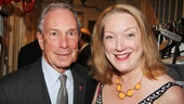 Mayor Bloomberg poses with Tony-nominated star Kristine Nielsen.